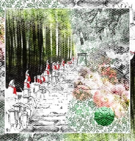 Foulard Hozan Ji amulet print