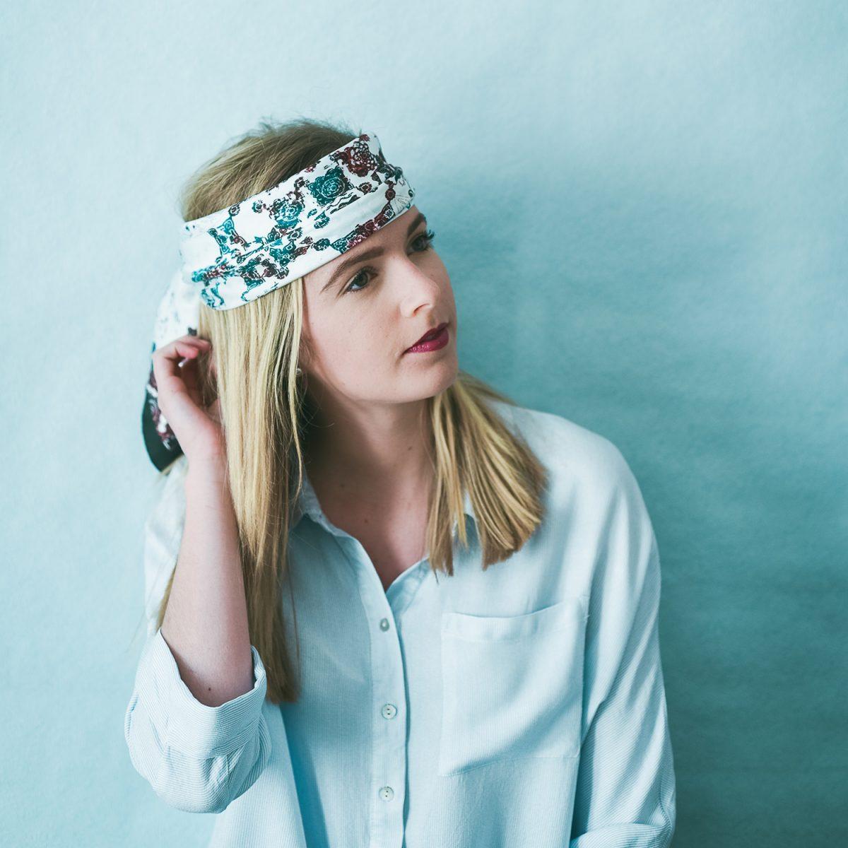 Âmulet Foulard ATLAS Sky fashion headwrapped style