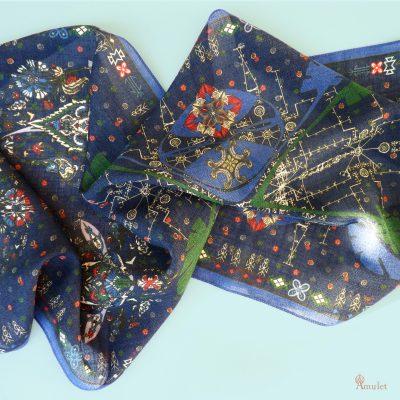 amuletfoulard-etole-akna-stole-square-design-made-in-france-wool-silk-print-scarf-giftidea-ideecadeau-winter-colors
