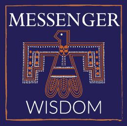 Scarf Messenger Blue couture amulet symbolism