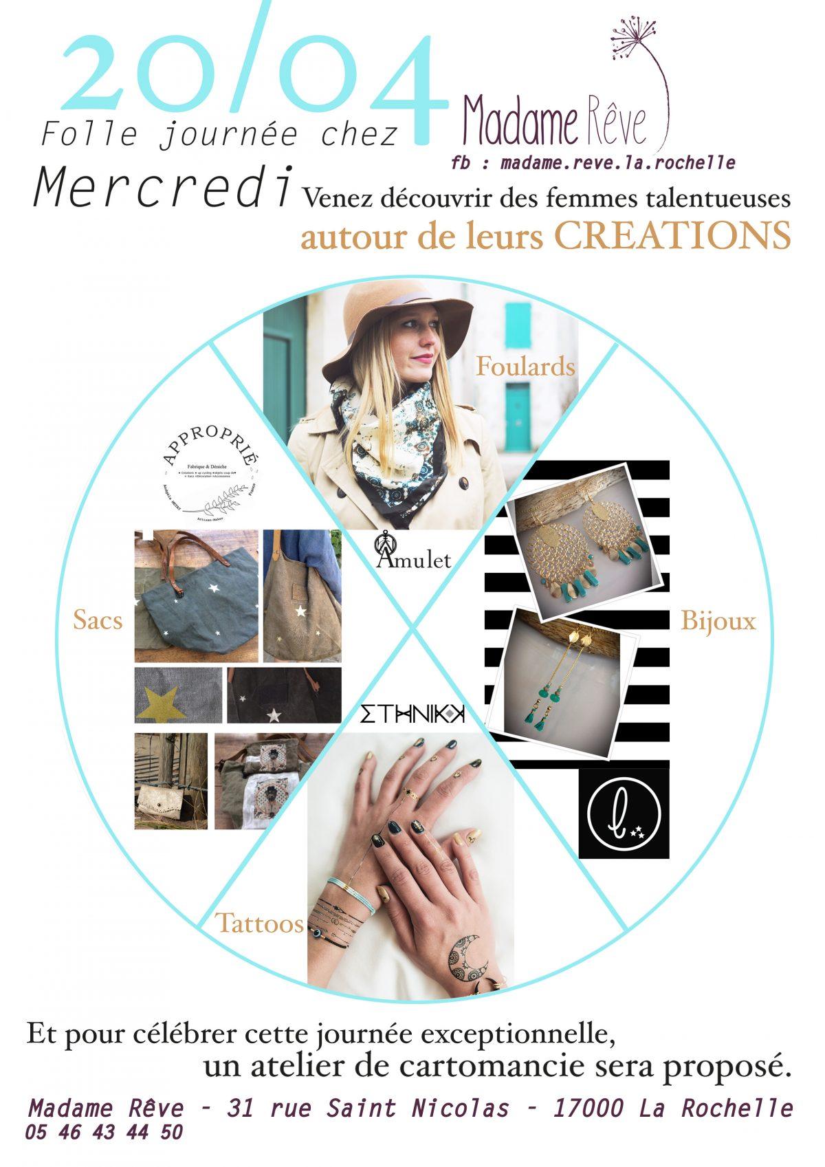 événement 20 04 2016 boutique créateurs Madame Rêve La Rochelle