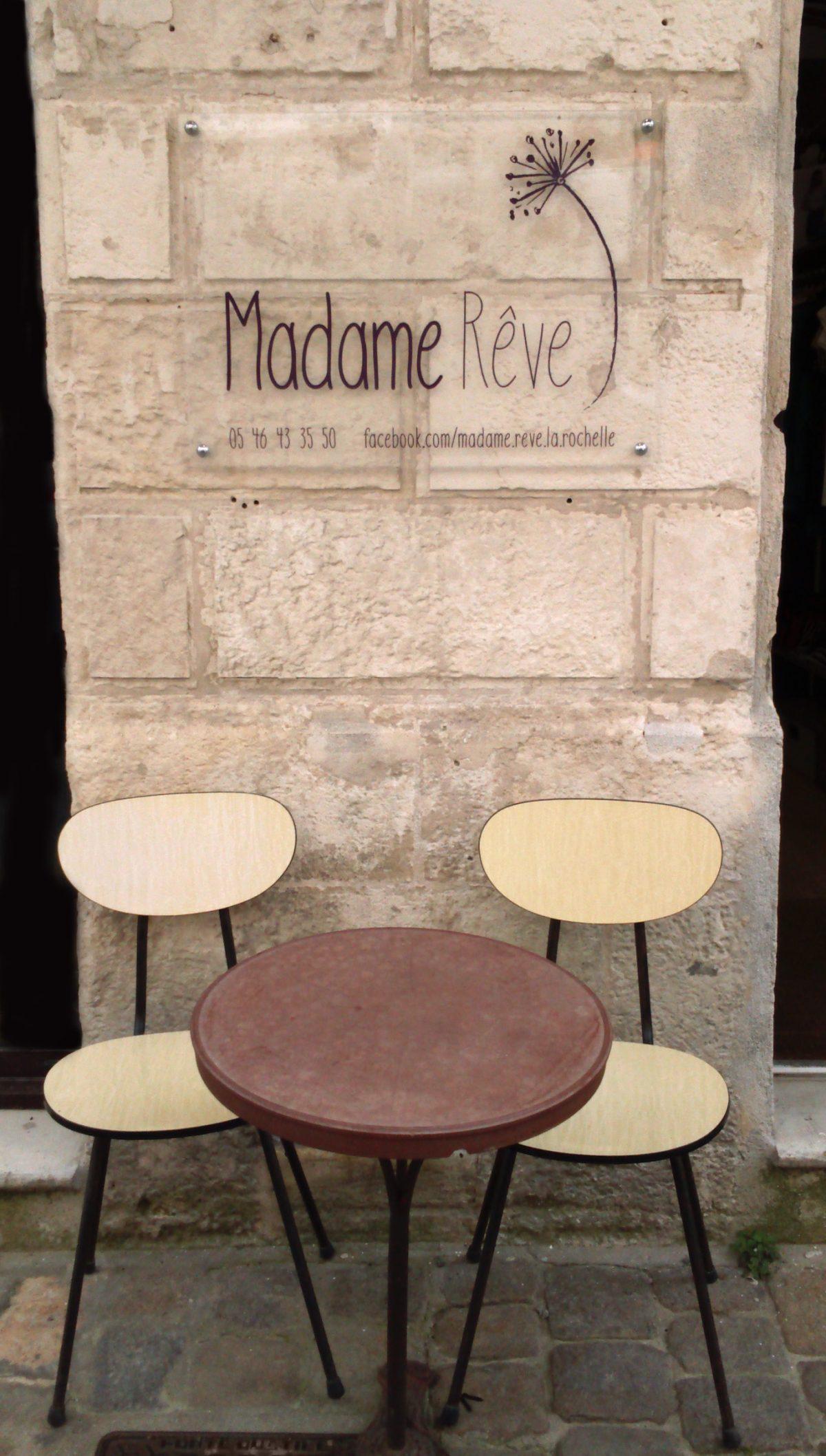 Devanture boutique Madame Rêve la Rochelle