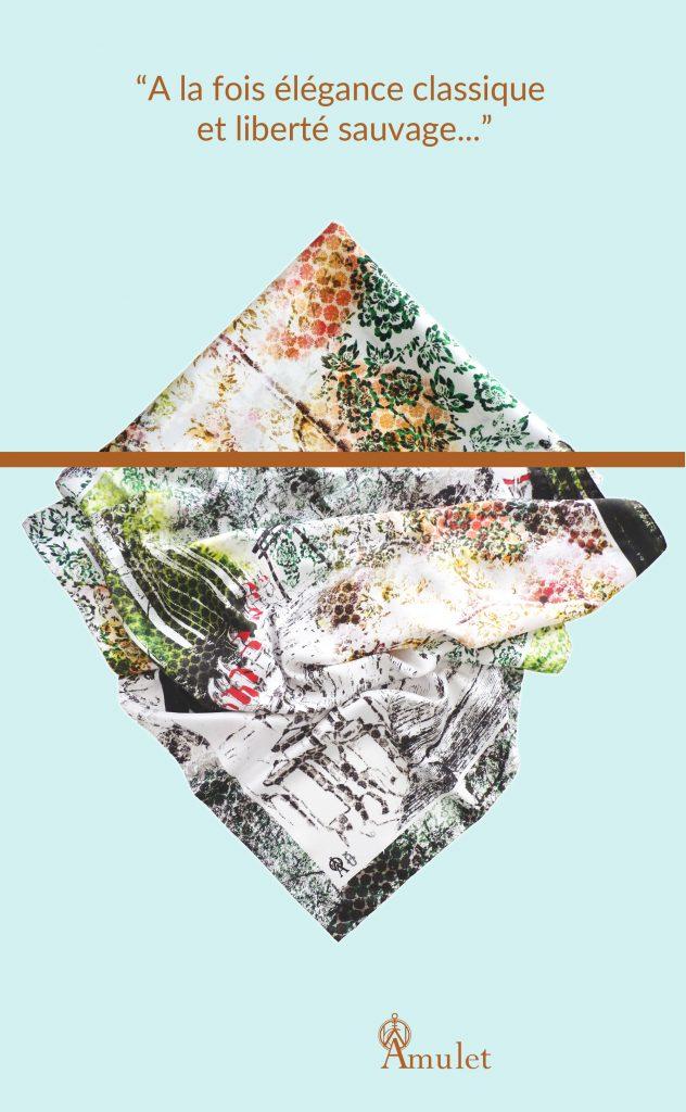 le foulard Hozan ji élégance classique et sauvage article