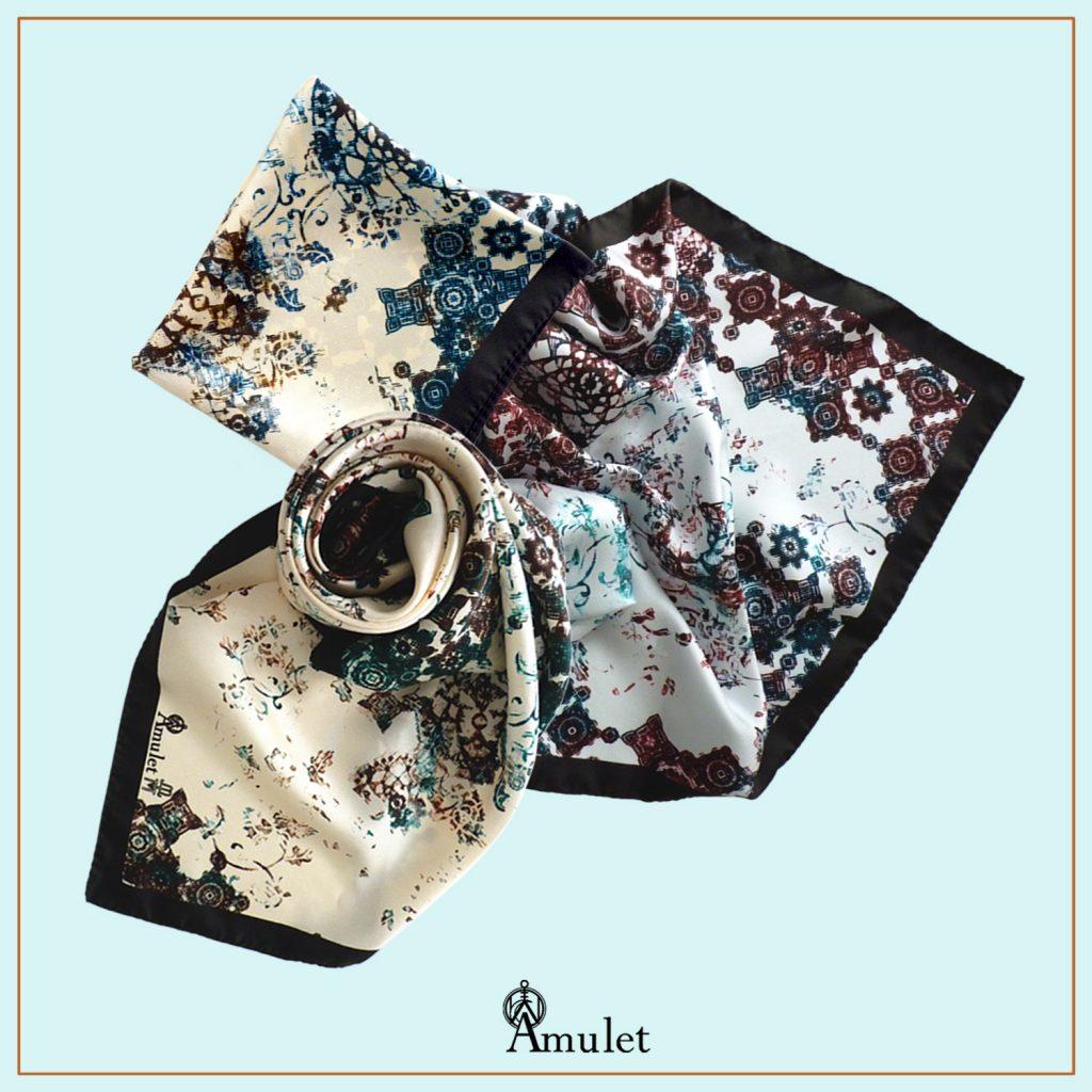 Les 3 foulards soie ATLAS Âmulet