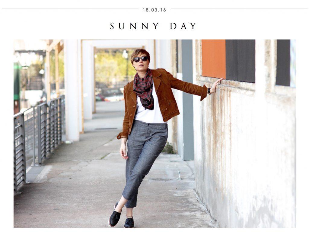 Look-Sunny-day-fashion blogueuse Artlex foulard MESSENGER Black Hawk amulet